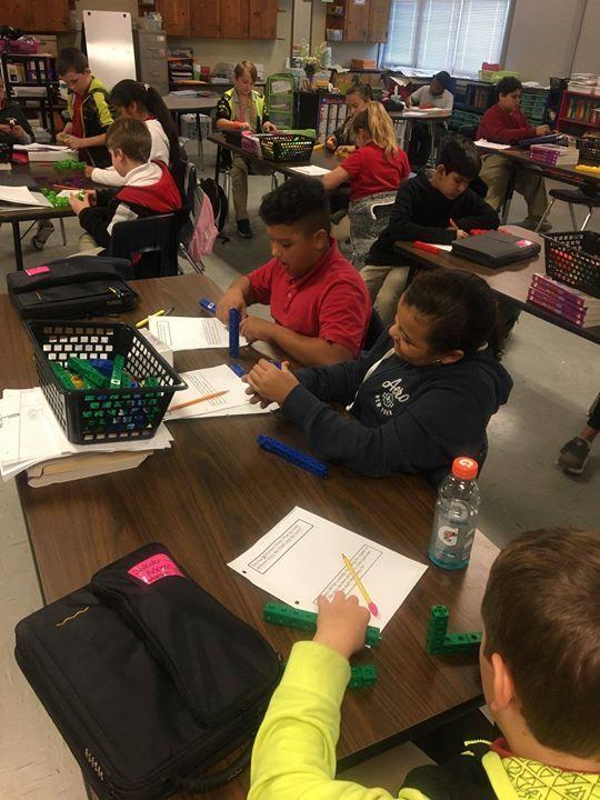 Mrs. Mesiti's 5th grade enjoys math.