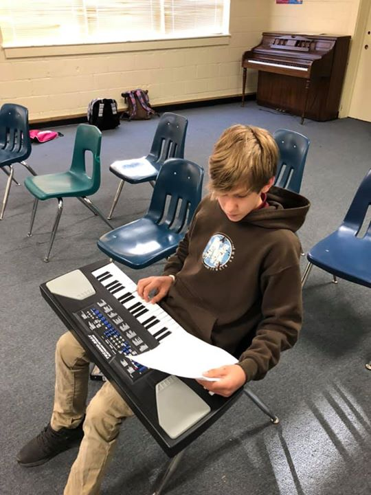 7th Grade Keyboarding students working hard to improve their...