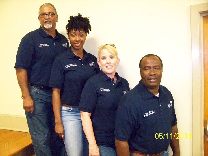 Looking good in their new personalized SkillsUSA North Carolina shirts!