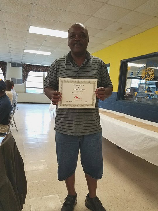 Custodian appreciation banquet! Thank you Mr. Donnie for all you do for our school!