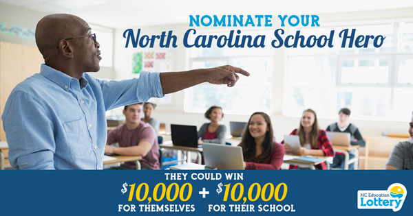 Check out the NC School Heroes Program, You, too, could win as you nominate your NC School Hero