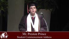CCCA Student Commencement Speaker Preston Prince