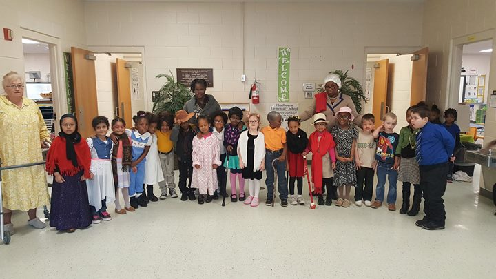 Students in Ms. Evan's class celebrated the 100th day of sch...