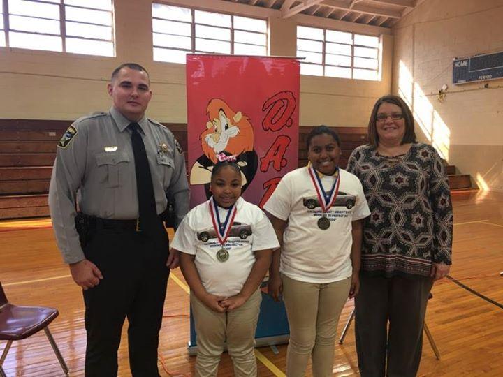 The 5th grade winners of the D.A.R.E. Essay Contest were rec...