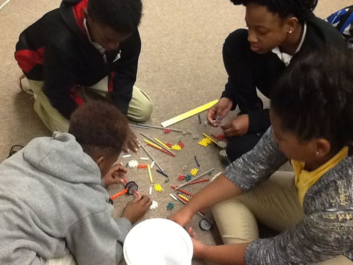 Students use hands on learning in Mrs. Jamie Ford's class to...