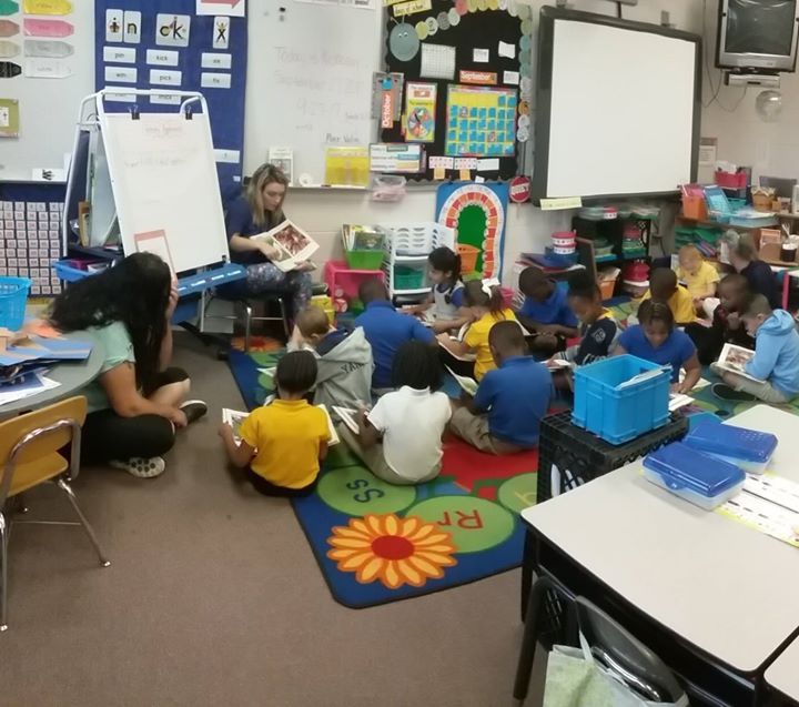 Students in Ms. Michele's class are paying close attention a...
