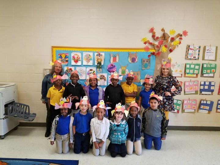 Ms. Michele's turkeys are ready for Thanksgiving.