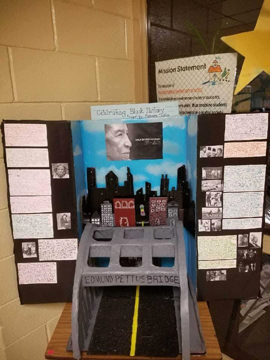 Students share their Black History Month projects.