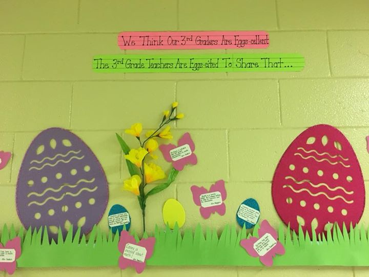 """Our 3rd grade teachers are """"eggs-cited"""" to share that our 3r..."""