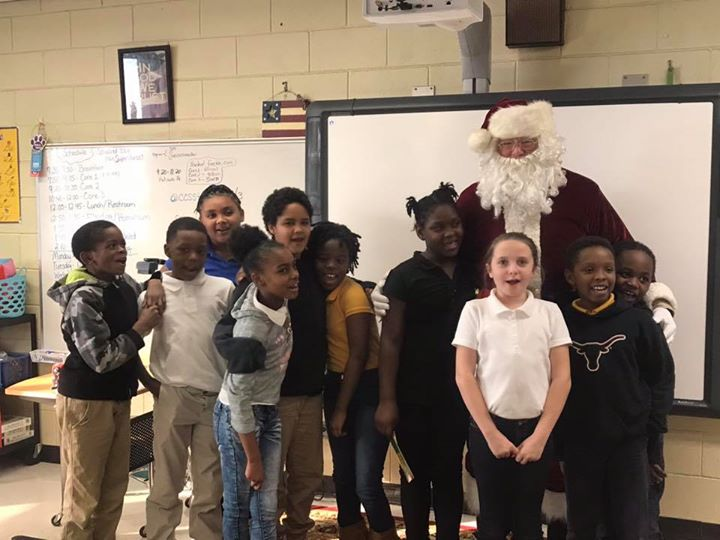 Our Superstars enjoyed a surprise visit from Santa!