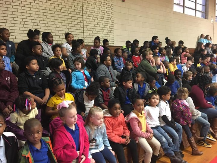 CES Superstars enjoyed a performance by the West Columbus Hi...
