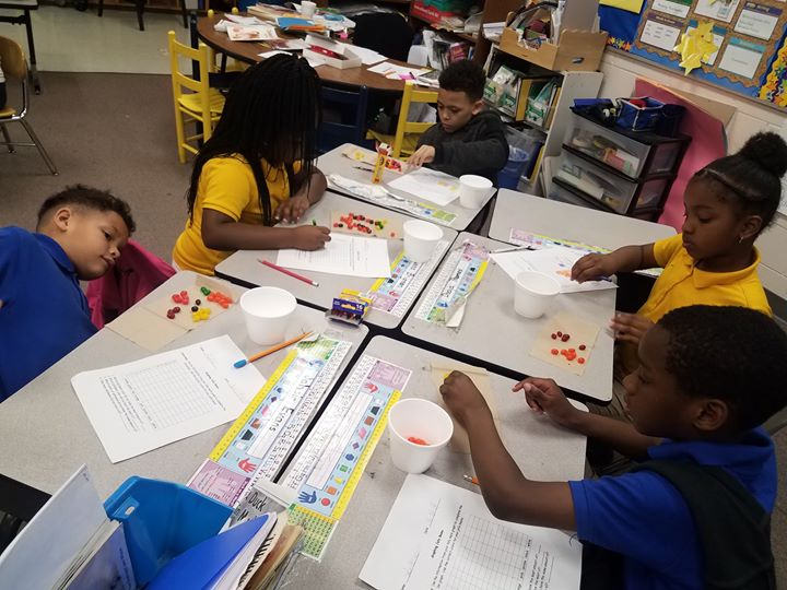Mrs. Duncan's Superstars practiced their graphing skills wit...