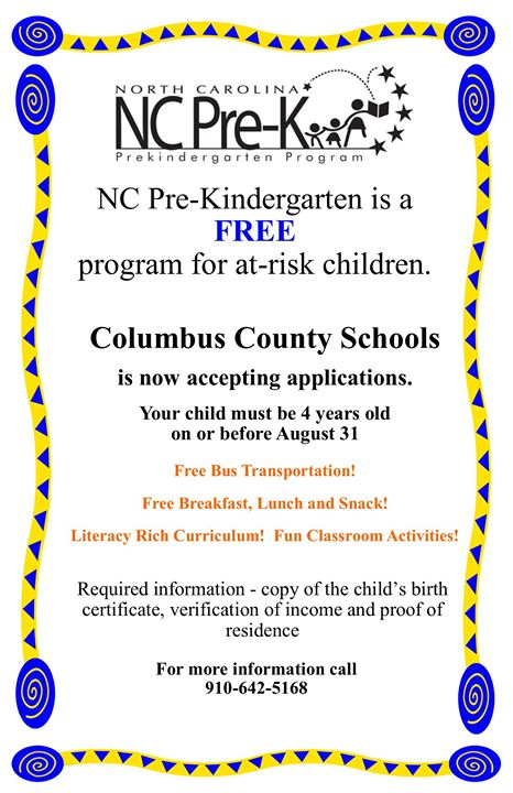 NC Pre K slots now available!!