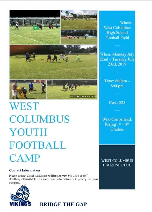 West Columbus Youth Football Camp