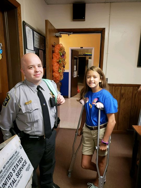We love the way Officer Bost helps out our students in any w...
