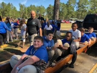 CGES 4th grade Stingers visit the Waccamaw Suiwan Pow Wow.
