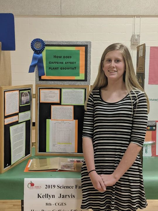 8th grade students Kellyn Jarvis and Lexie Greene recently p...