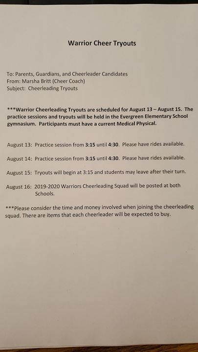 Attention CGES Middle School students: