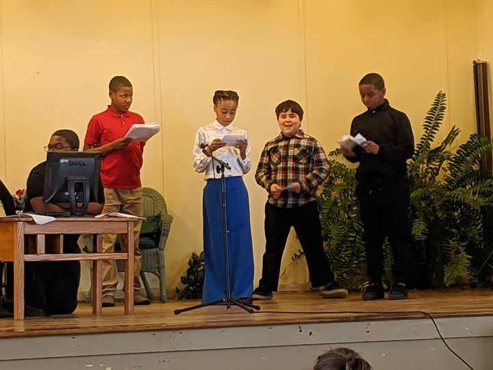 Black history month presentation put on by the students in c...