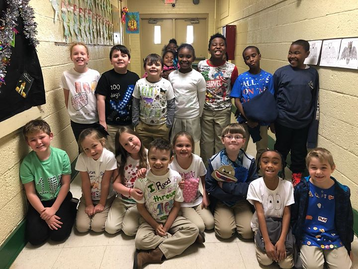 Happy 100th day of school from Ms. Cribb's class! 📅💯