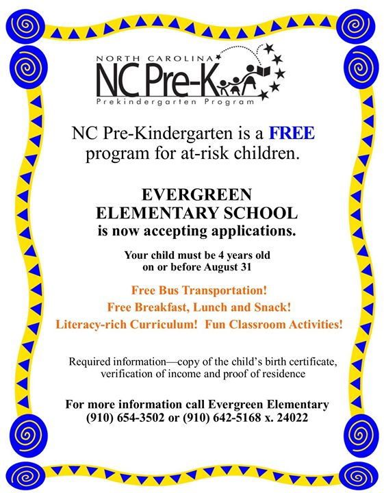 It's not too early to get your Pre-K applications turned in!...