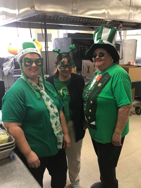 Lunch Lady Leprechauns at HMS!!