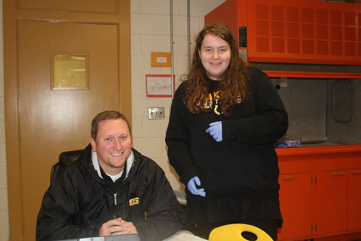 Mr. Reaves and his students are dissecting owl pellets today...