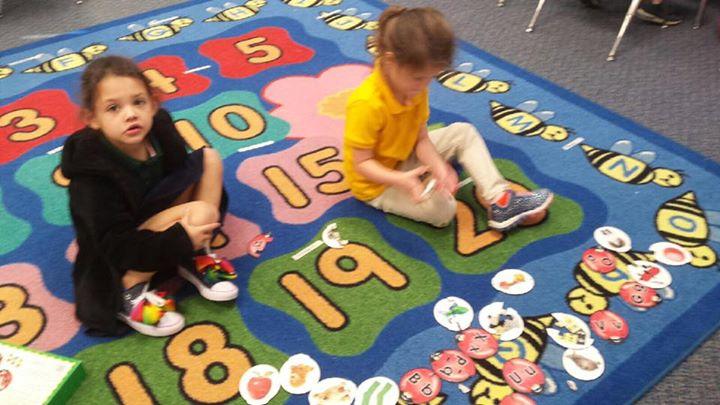 Kindergarten working in centers