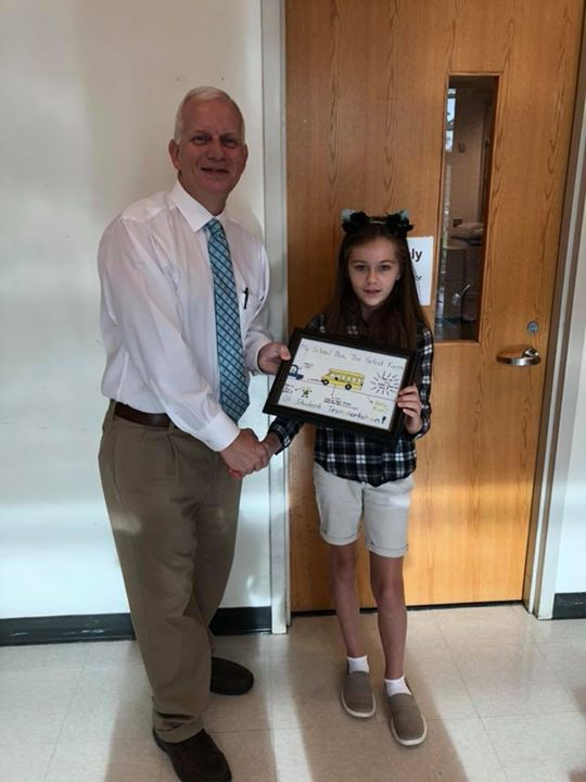 Congratulations to Baylee Brinson, 5th grade student at Will...