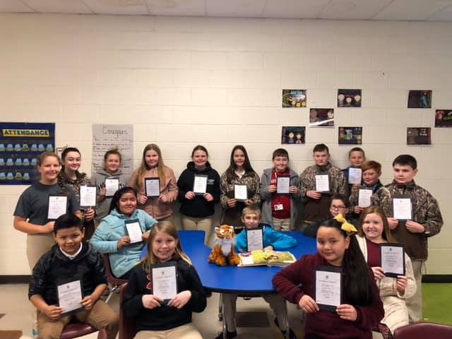 Students in Mrs. Lisa Cox's 5th grade class adopted a Amur t...