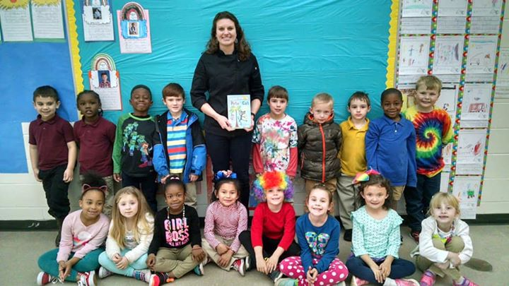 K-2 students are celebrating Dr Seuss Read Across America we...