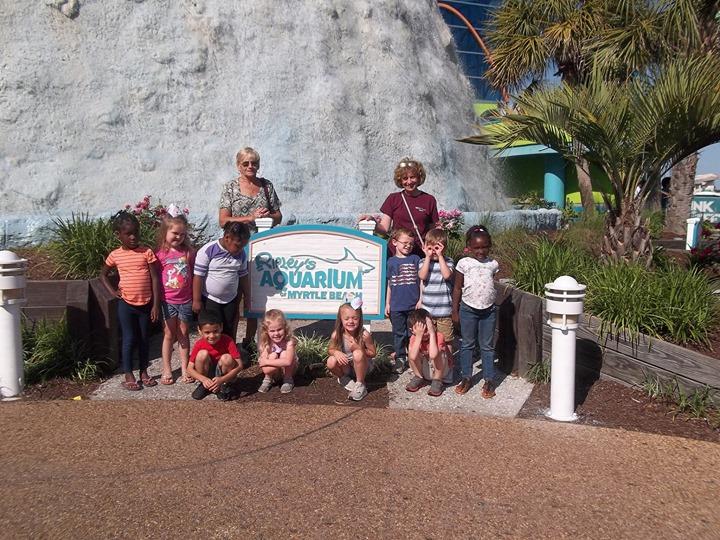 The Pre-K classes went to  visit Ripley's Aquarium in Myrtle...