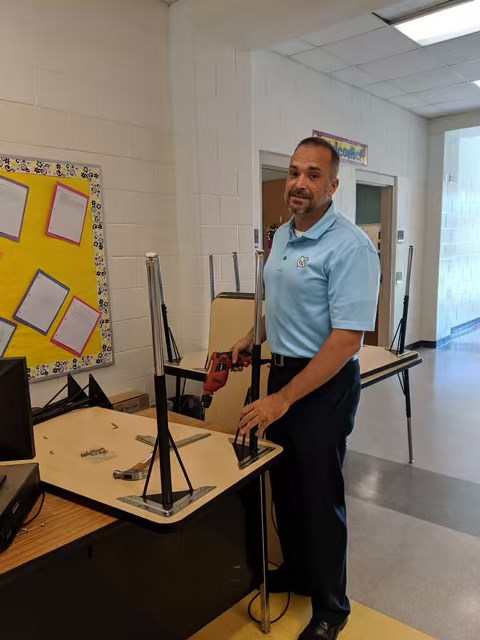 Thank you Mr McLam for helping yesterday put the new tables ...