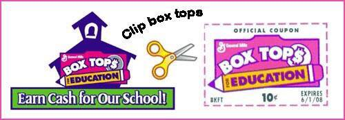 Don't forget to keep saving those box tops! WTS will be doin...